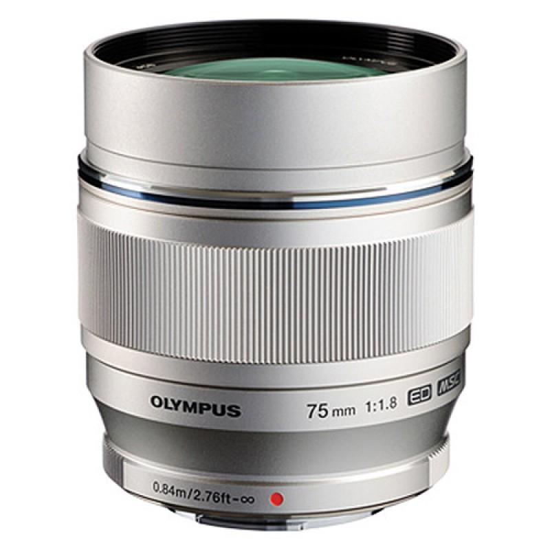 Olympus M. Zuiko Digital ED 75mm f/1.8 Lens Silver
