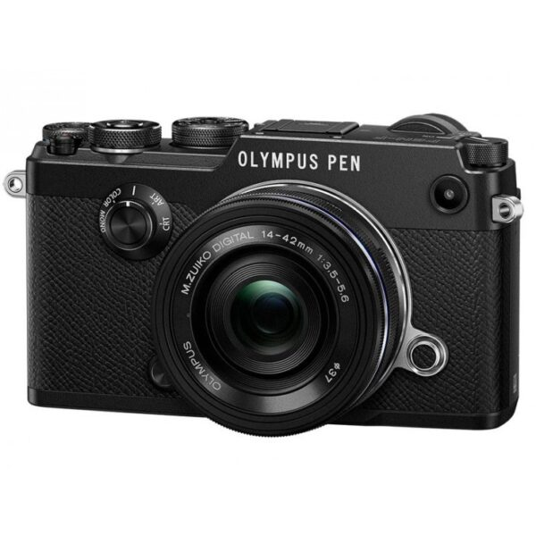 Olympus PEN-F + M.Zuiko 14-42mm f/3.5-5.6 EZ Pancake Zoom Kit (black)