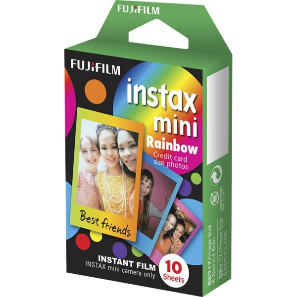Fujifilm Instax Mini Instant Film - Rainbow (10 Shots)