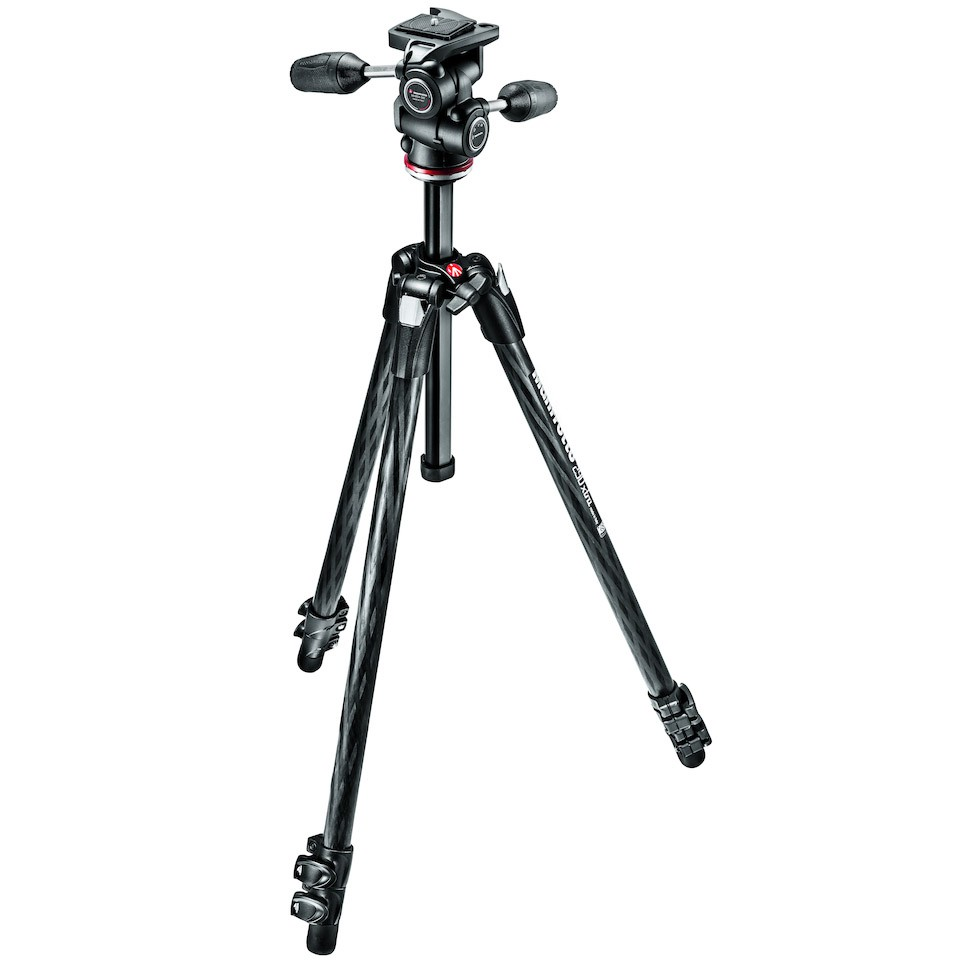 Manfrotto MK290XTC3-3W 290 Xtra Carbon Fibre 3-Section Kit with 3-Way Head