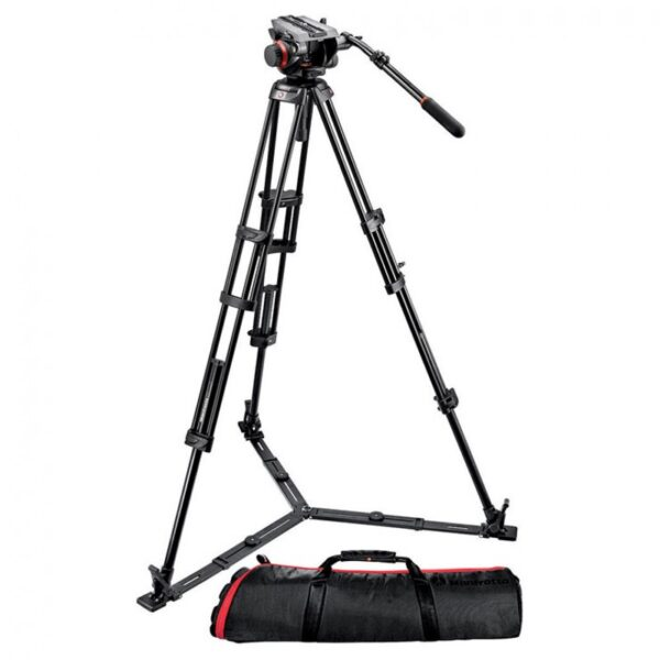 Manfrotto MVH504 Head with 546GB 2-Stage Aluminum Tripod System & Bag
