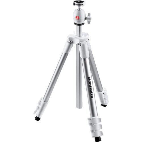 The new Manfrotto New Compact Action Tripod White is an all-in-one combination of tripod and perfectly matched built-in head, ready to use straight out of the box.