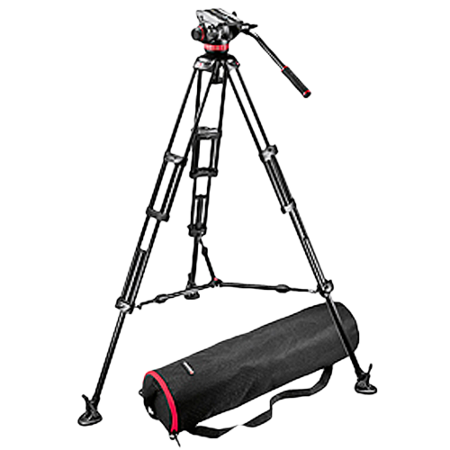 Manfrotto Pro Video Kit: MVH502A Head + 546B Tripod + Unpadded Bag