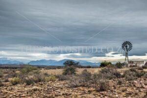 Karoo windmill and reservoir