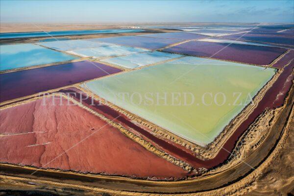 Salt Pans Aerial Namibia