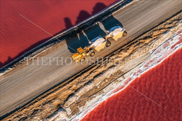 the photo shed,photographs of africa,photographs of south africa,south africa,photography,south african aerials,salt farmarming,salt,farming,pans,salt pans,truck,truck and trailer,roads