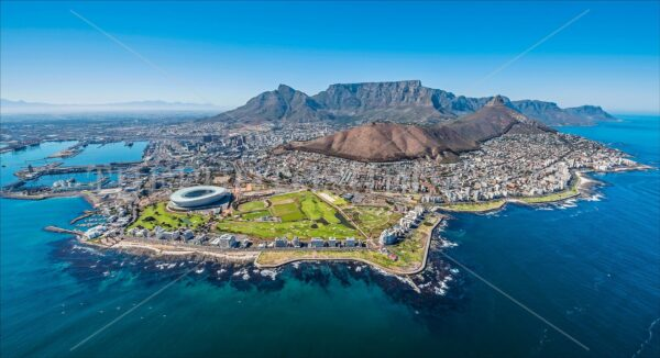 Aerial view of Table Mountain