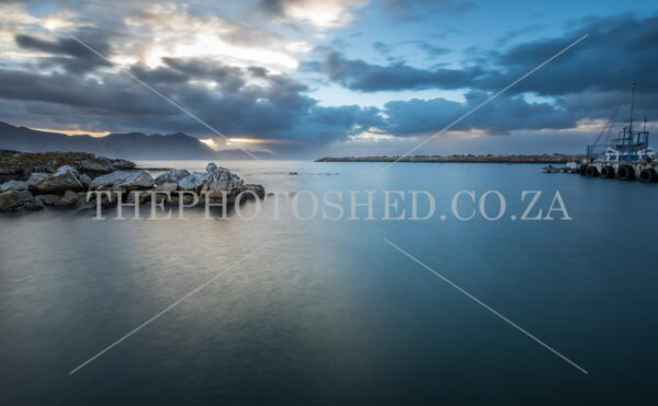 New Harbour, Hermanus taken with slow shutter speed