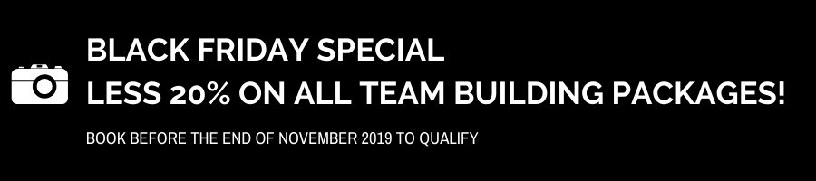 Black Friday Special on all team building packages