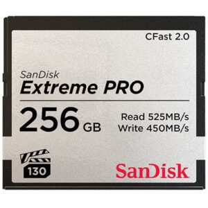 SanDisk 256GB Extreme PRO 525MB:s CFast 2.0 Memory Card